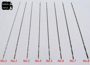Image 4 - 96 Stuks 130mm Scroll Saw Zaagbladen Spiraal Tanden 1 8 # soorten Decoupeerzaag Zaagbladen Metalen 12 Stks/lot * 8 = 96 Stukken Met Chuck
