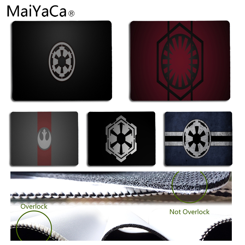 MaiYaCa StarWars Empire logo DIY Design Pattern Game mousepad Size for 25x29CM Speed Version Gaming Mousepads image