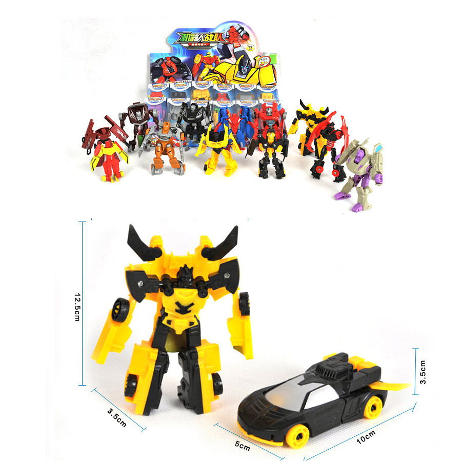 Transformation Deformation Robot Yellow Car Compatible Model Building Kid