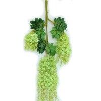 Wisteria Vides 12 unids 105 cm Glicinas Artificial Guirnaldas de Flores para La Fotografía De Boda de Navidad Decoraciones Para El Hogar (verde)