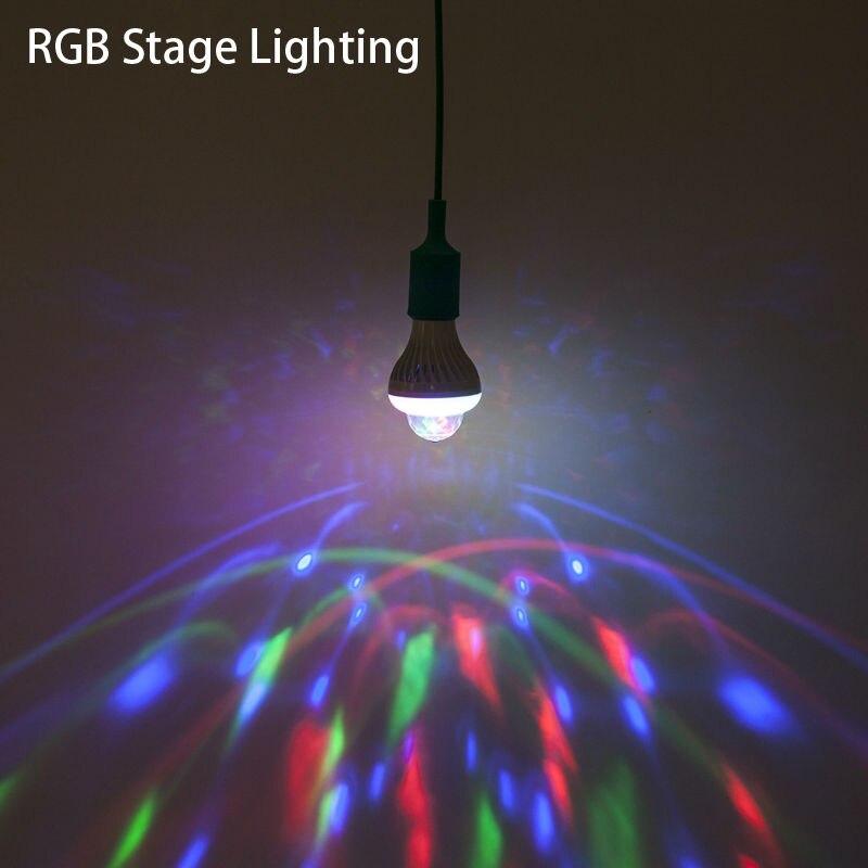 [YGFEEL] Festival Decoration LED Bulbs 5W Cool White + 3W RGB Auto Rotating Stage Light E27 AC220V PUB Energy aving LED Lamp