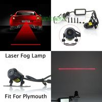 2016 Laser Fog Light Alarm Rear Anti Collision Tail Warning Lamp For Plymouth