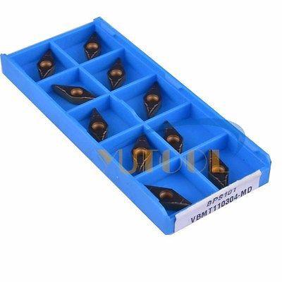 50PCS Yutools carbide blade VBMT110304 MO CNC milling insert new carbide drill