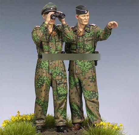 1/35 Resin Figures WWII German Observation Soldiers 2pcs/set Model Kits