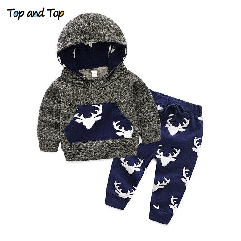 Sweatshirt Clothes-Sets Jogger-Pants Newborn Baby-Girls-Boys Hooded Long-Sleeve Autumn