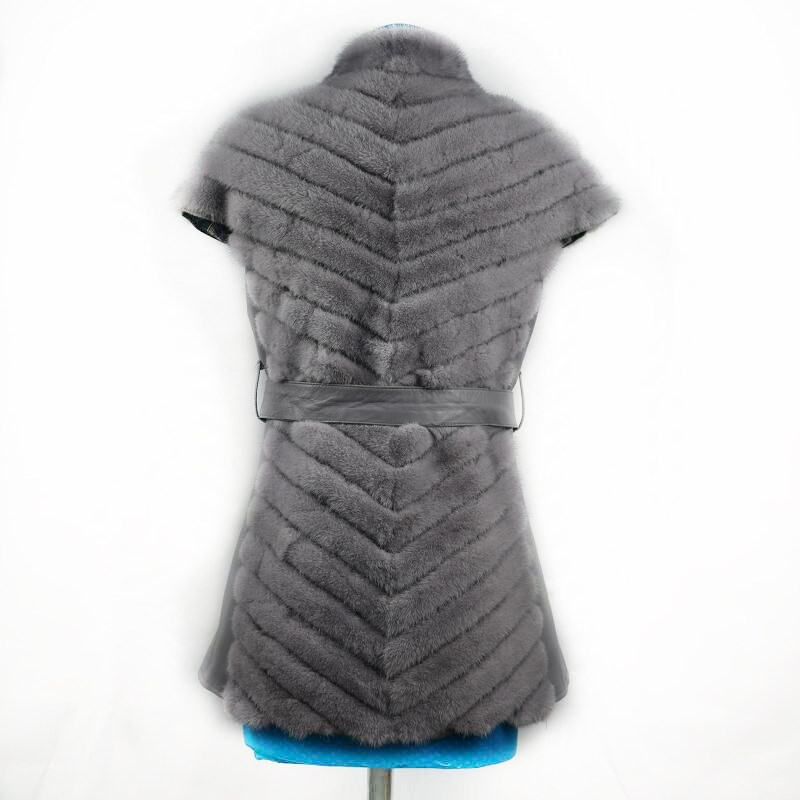 Gilet Épaule gray Belle N black Cheval New De 2008 camel Mode Dames Femmes color Véritable Dark Fourrure Naturel Leisure Vison Cuir Chaleur Couvert En Gray Transport qYxxfgATaw