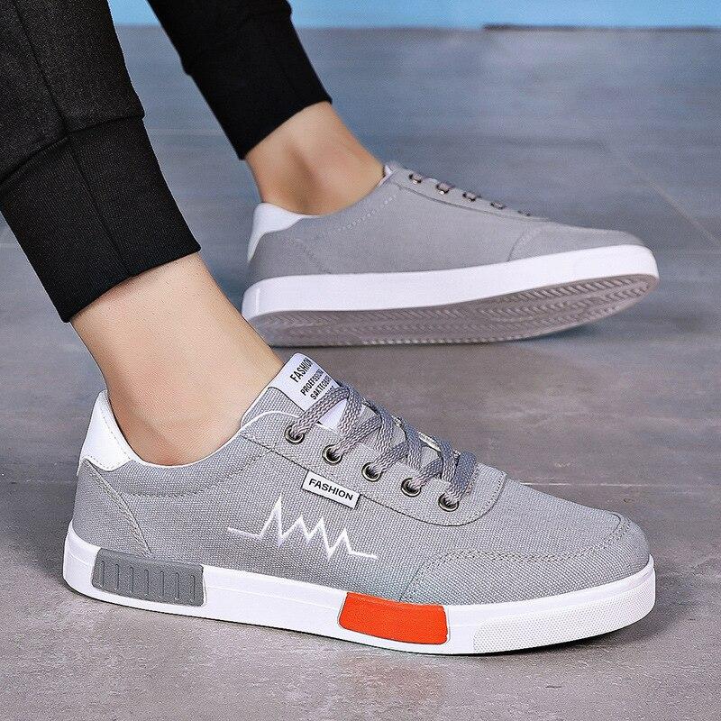 Hommes chaussures décontractées confortable toile chaussures à lacets tenis masculino adulto pour hommes chaussures plates Zapatos Hombre Chaussure Homme