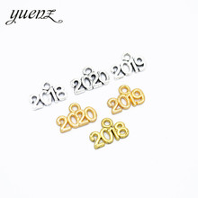 YuenZ 40pcs 3 colour Antique Metal Numbers 2019 2020 charms