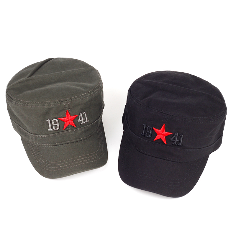 VORON  2017 1941 the Chinese Red Army red star baseball embroidered fashion men and women adjust the truck driver cap 100% cotton army baseball cap five pointed star embroidered flat top hat for men and women