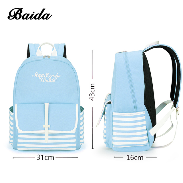 Fashion School Backpacks for Teenage Girls Canvas Women Laptop Back Pack Female Cute Japan and Korean Style Backpack Travel Bags 3