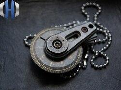 EDC Mini Titanium Alloy linijka ręczne narzędzie pomiarowe miarka suwmiarka brelok do kluczy z ozdobą|Łomy|Narzędzia -