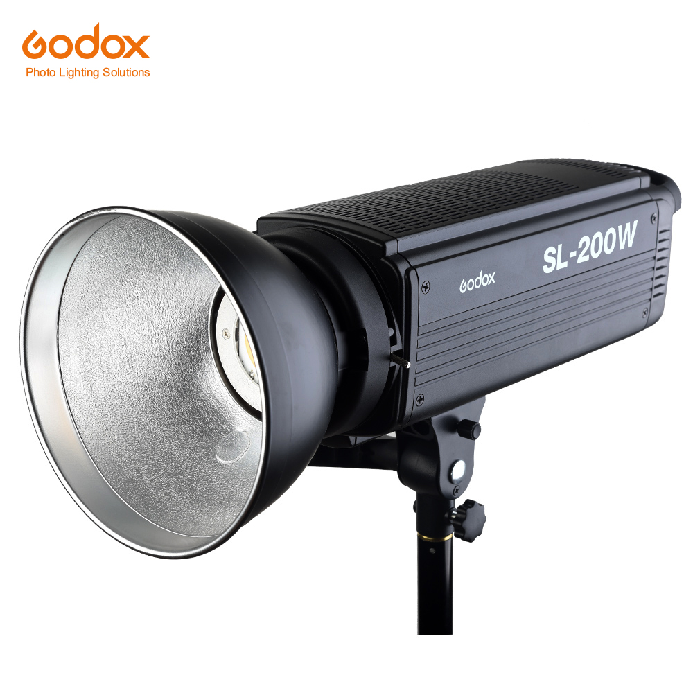 Free DHL Godox SL-200W 200Ws 5600K Studio LED Continuous Photo Video Light Lamp W/ Remote