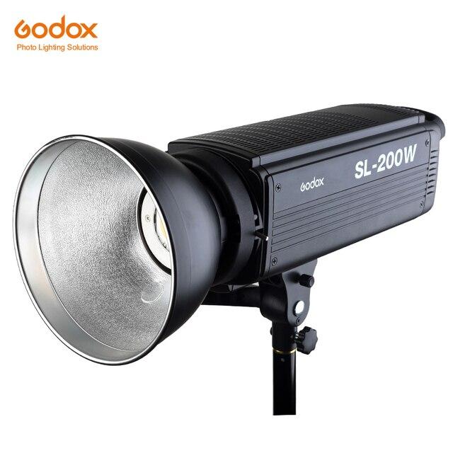 Lâmpada de led godox SL 200W 200ws 5600k, sem fio, para estúdio, fotografia contínua, lâmpada de vídeo com controle remoto