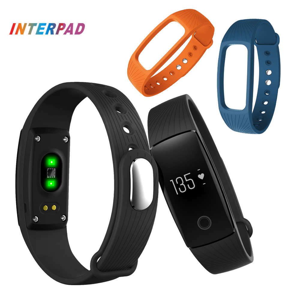 ID107 Smart Wristbands Bluetooth ID 107 Smart Band Heart Rate Monitor Wristband Fitness Tracker For Android