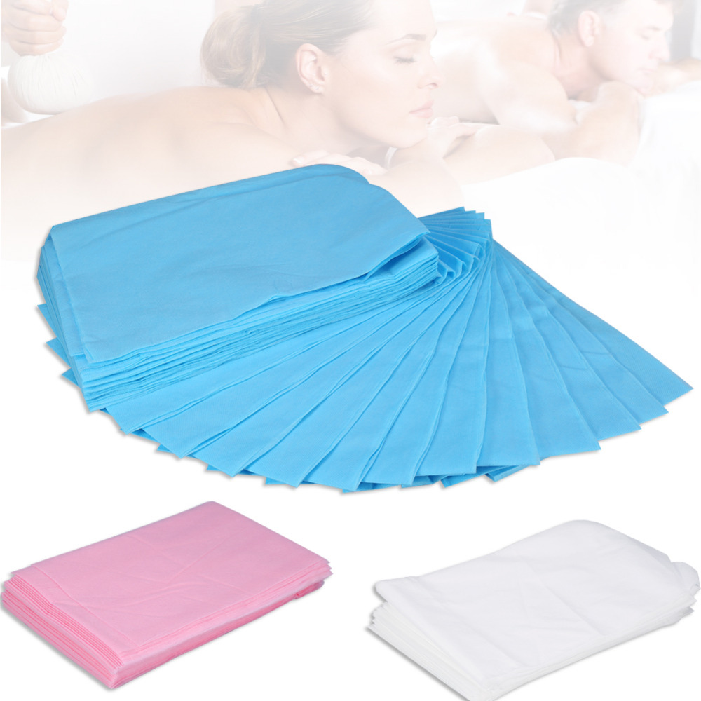 10Pcs 175 X 75cm Waterproof Disposable SPA Bedsheet Non-Woven Beauty Salon Massage Bedsheets Table Cover Travel Medical Use