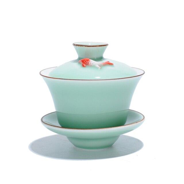 Celadon Gaiwan Gong Fu Tea Bowl