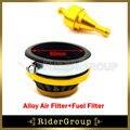 60mm filtro de ar mais limpo cnc alumínio filtro de combustível mini moto crianças bicicleta da sujeira quad atv bicicleta do bolso
