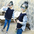 2017 Children T shirts Spring Autumn Girls Baby Kids Cotton Mixed Color Long Sleeve Casual Fashion T-shirts for Girls Cute Tee