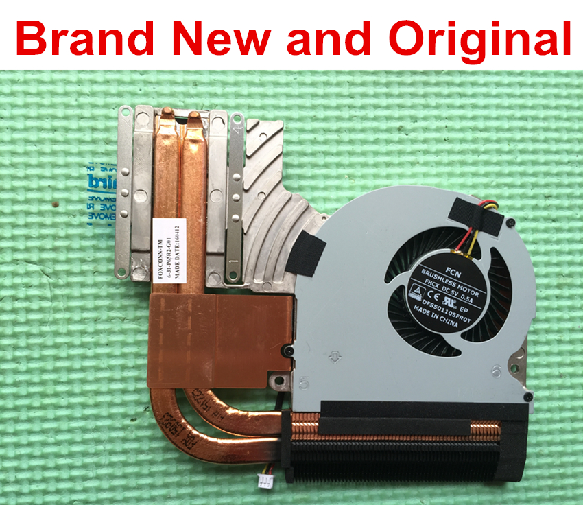 Brand New and original heatsink for Clevo P65R2 6 31 P65R2 G01 cooler radiator thermal module