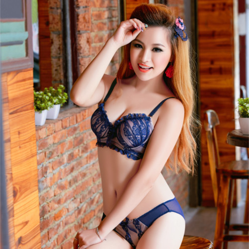 Japanese deep V sexy lace bra preppy college cute girls gather ...