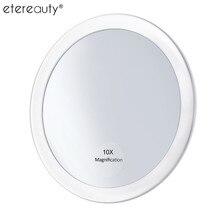 ETEREAUTY 10x увеличительное зеркало для макияжа с 3 присосками карманное косметическое зеркало увеличение компактное зеркало
