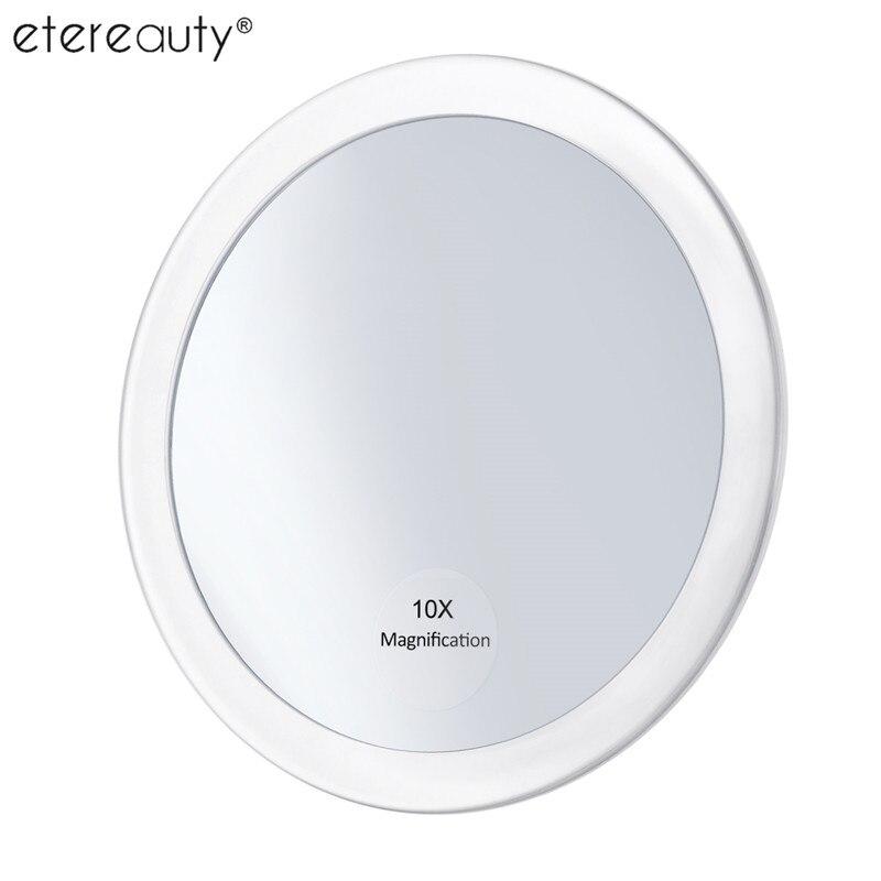 10x Loupe Ronde Miroir Maquillage Pliage Poche Cosmétique Miroir Compact Miroir avec 3 Ventouses 5.9 Pouce