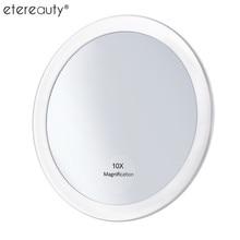 10x увеличительное зеркало для макияжа с 3 присосками Make Up карманное косметическое зеркало увеличение компактное зеркало увеличение