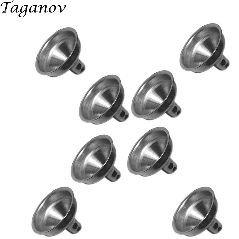10 pcs lot Stainless Steel small metal funnels for Hip Flask Oil Bottle Mini Funnel For All kinds Of Hip Flasks Pot Wine Filler in Hip Flasks from Home Garden