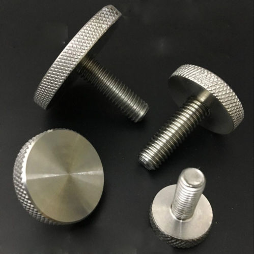 M5 Stainless Steel Thumb Mirror Screws Hand Flat Knurled Knob Bolts 8mm-30mm Length