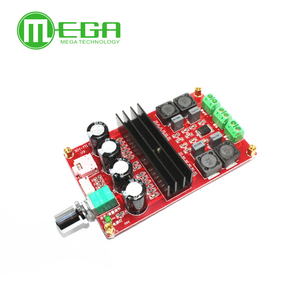 K103 Free shipping XH-M190 Tube Digital Audio Board TDA3116D2 Power Audio Amp 2.0 Class D Stereo HIFI amplifier DC12-24V 2*100WK103 Free shipping XH-M190 Tube Digital Audio Board TDA3116D2 Power Audio Amp 2.0 Class D Stereo HIFI amplifier DC12-24V 2*100W