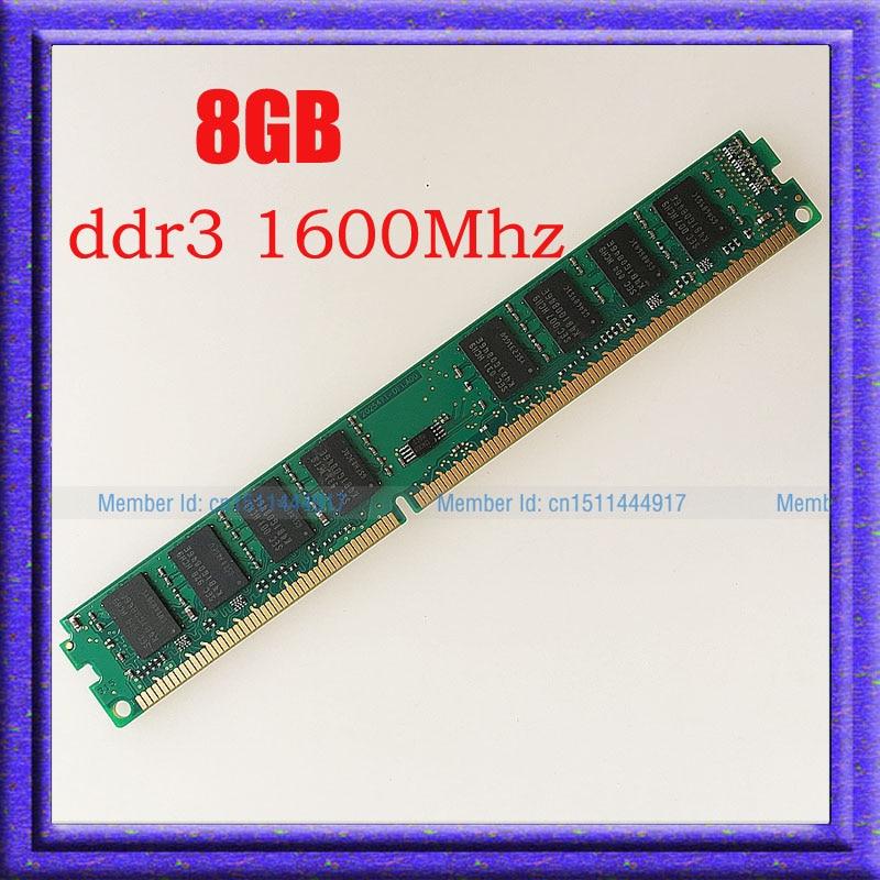 Fully Test 8GB PC3-12800 DDR3-1600 DDR3 1600MHZ 240PIN Desktop Memory 8g ddr3 1600 RAM desktop 240-pin DIMM memory Free shipping