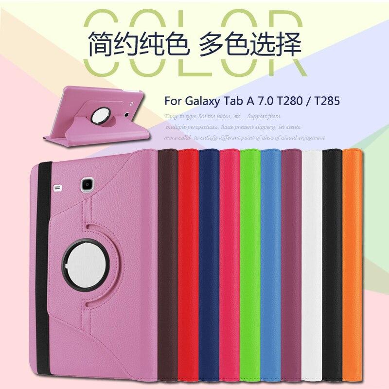 Galaxy Tab A 7.0 Smart 360 pöörlev Litchi PU nahast kaitseümbris - Tahvelarvutite tarvikud - Foto 3