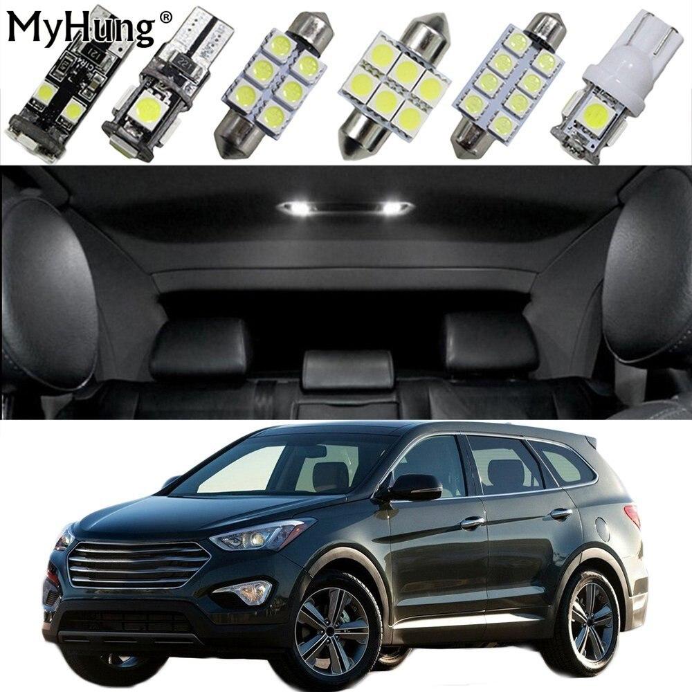 Pro Hyundai Santa Fe Grand Santa Fe Tucson IX25 IX45 Auto LED žárovky Náhradní žárovka Dome Mapa Lampa Světlé 16PCS
