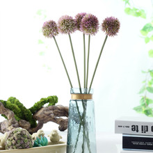 5pcs Purple Onion Flower Plastic Ball Form Hydranea Wedding Floral Event Party Table Free Shipping