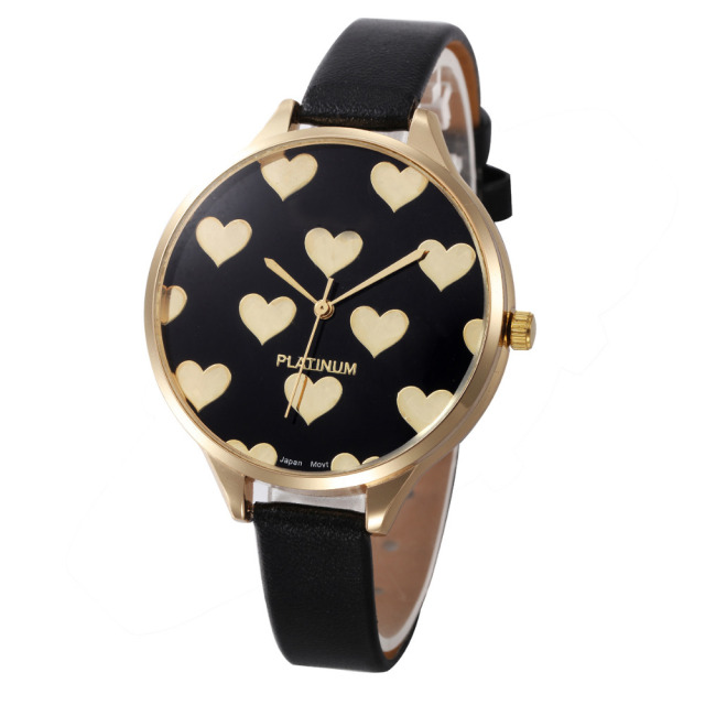 Casual Watches Women Checker Heart Clock Ultra Thin Leather Band Female Quartz Watch Waterproof Relogio Feminino Wholesale New M