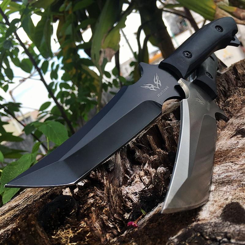 Cuchillos tácticos cuchilla fija supervivencia rescate herramientas cuchillos caza resistencia a la corrosión caza combate exterior herramienta