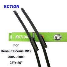 Windshield wiper blade for Renault Scenic 2 MK2 MK3 MK4 windscreen car accessories Fit Slider / Bayonet /Push Arms Model