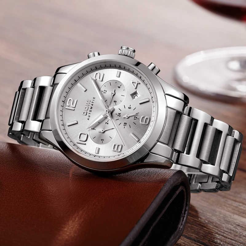 Dom relógios masculinos marca de luxo à prova dwaterproof água homem mecânico homem de negócios reloj hombre marca lujo relógio masculino M-812D-7M