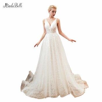 modabelle Tulle Wedding Gowns 2019 Robe Mariage Femme V-neck A-line Off Shoulder Wedding Dress Vestidos Novias Boda
