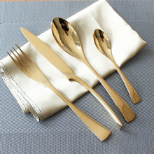 4 Teile/satz Edelstahl Edle Qualität Besteck Sets Gold Farbe Geschirr Geschirr Westlichen Gabel Messer