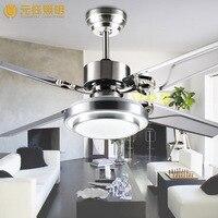 Современный краткое моды 48 дюйм(ов) LED Fan потолочный светильник с дистанционным управлением для гостиной местный номер AC 80 265 В 1050