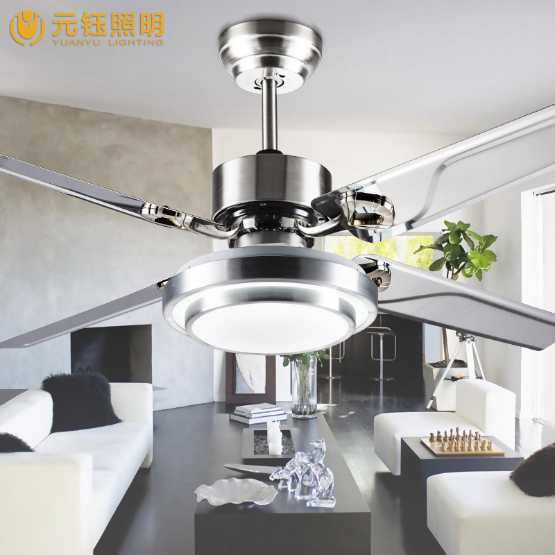 цена на modern brief fashion 48 inches led fan ceiling light with remote control for living room bed room AC 80-265V 1050