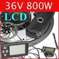 36V 800W LCD Electric Bike Disc brake kit ,DC hub motor conversion kits ,ebike kits ,Front wheel or rear wheel