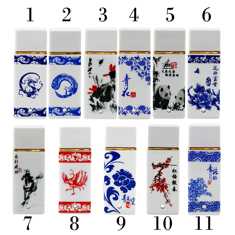 Retro China Porcelain Plastic Usb Flash Drive Ceramic Gift Pen Drive 4GB 8GB 16GB 32GB 64GB Pendrive Usb Stick Flash Disk