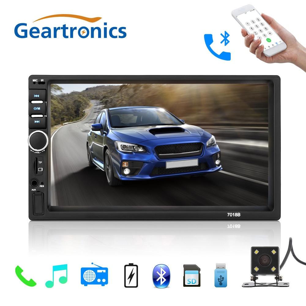 2 Din autoradio général voiture modèles 7 ''pouces LCD écran tactile lecteur multimédia Bluetooth voiture Support Audio caméra de recul