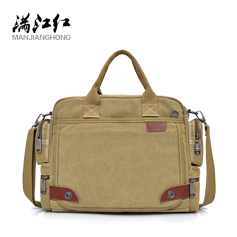 100% Cotton Canvas Handbags Men Totes Travel Shoulder Bag High Quality Male Bolsa Crossbody Bags Zipper Travel Leisure Handbag
