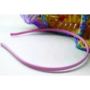 Image 5 - Cinta para el pelo de 5mm para accesorios para el cabello, 50 unidades, envío gratis, venta al por mayor, colores sólidos en blanco, cinta para el pelo recubierta de tela, artesanía