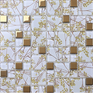 Free shipping!Gold flower pattern glass mosaic tiles,Kitchen backsplash Bathroom home art design decor wallpaper sticker,LSTC025 copper brown resin sticker fireplace kitchen backsplash wall tiles vintage drawbench metal mosaic meshback home wallpaper lsrn03