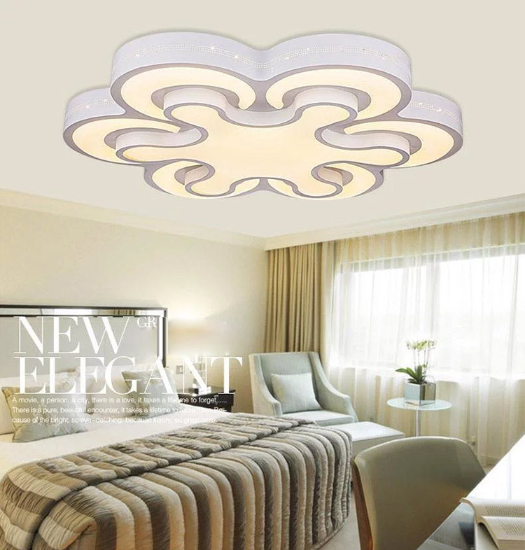 все цены на New Acrylic Modern led ceiling lights for living room bedroom Plafon led home Lighting ceiling lamp home lighting light fixtures