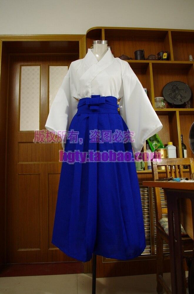 Rurouni Kenshin Kamiya Kaoru Kendo Kimono Clothes Cosplay Costume Full Set